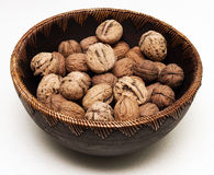 Bowl of Walnuts Stock Photo