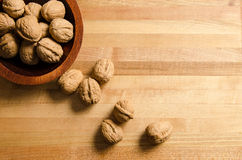 Bowl of walnuts Royalty Free Stock Image