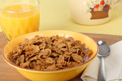 Bowl of Wheat Cereal Royalty Free Stock Image