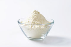 Bowl of wheat flour Stock Images