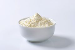 Bowl of wheat flour Stock Photography