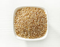 Bowl of wheat grains Stock Photography