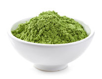 Bowl of wheat sprouts powder Royalty Free Stock Photo