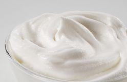 Bowl of whipped cream Stock Photography