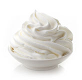 Bowl of whipped cream Royalty Free Stock Images