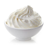 Bowl of whipped cream Stock Photos