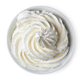 Bowl of whipped cream Stock Images