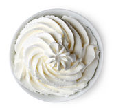 Bowl of whipped cream Royalty Free Stock Image