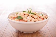 White bean salad. Bowl of white bean salad Stock Image