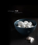 Bowl of White Eggs Stock Images
