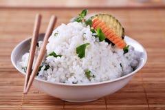Bowl of white rice Stock Image