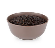 Bowl Of Wild Rice royalty free stock photography