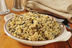 Bowl of wild rice Stock Photos