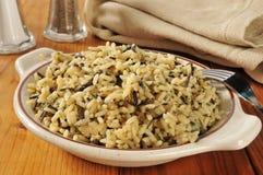 Bowl of wild rice Stock Photos
