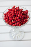 Bowl of wild strawberries Stock Photo
