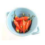 Bowl With Chili Peppers Royalty Free Stock Photos