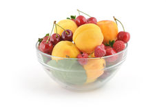 Bowl With Fresh Berries Royalty Free Stock Images