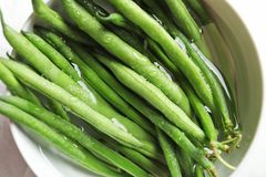 Free Bowl With Fresh Green French Beans Royalty Free Stock Photography - 122733037