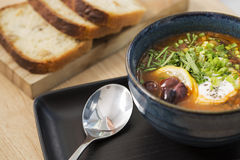 Bowl With Hot Soup With Beans Royalty Free Stock Photography