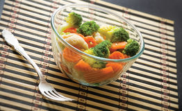 Bowl With Vegetarian Salad Stock Photography