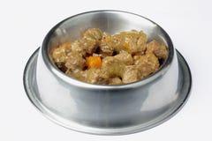 Bowl witjh cat food Royalty Free Stock Image
