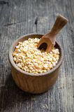 Bowl of yellow dry split peas Royalty Free Stock Images