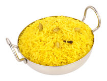 Bowl Of Yellow Pilau Rice Stock Photo