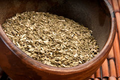 Bowl of yerba mate Royalty Free Stock Photography