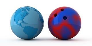 bowla bred värld Stock Illustrationer