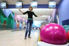 bowla för bollar Arkivfoto