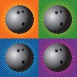 bowla för bollar som är retro vektor illustrationer