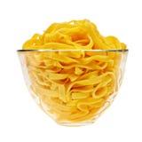 bowla genomskinlig lagad mat glass italiensk pasta Royaltyfria Bilder