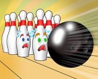 bowla konungspinner vektor illustrationer