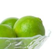 bowla limefrukter Royaltyfri Foto
