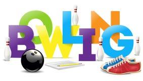 Bowla objekt Bowla illustrationen för konst för ordvektorgem Fotografering för Bildbyråer