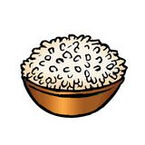 bowla rice Royaltyfri Bild