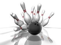 bowla slag Fotografering för Bildbyråer