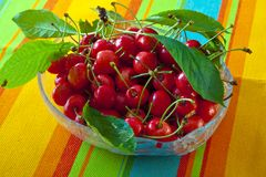 bowla sura Cherry Arkivfoto
