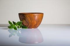 bowla trä Arkivbild