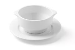 bowla white Arkivfoto