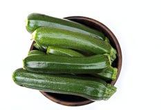 bowla zucchinier fotografering för bildbyråer