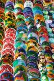 bowlar färgad lera Royaltyfri Fotografi