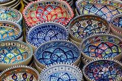 bowlar färgrikt Arkivfoto