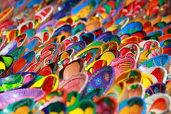 bowlar keramisk färgrik garneringmexikan royaltyfri fotografi