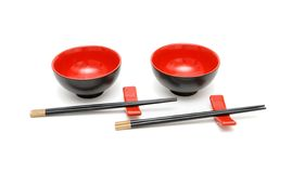 bowlar pinnar isolerade sets två Fotografering för Bildbyråer