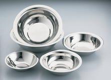 bowlar rostfritt stål Royaltyfri Bild