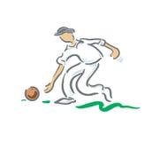bowlar spelare Arkivbild