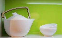 bowlar teapoten Royaltyfri Bild