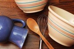 bowlar utensils Arkivfoto