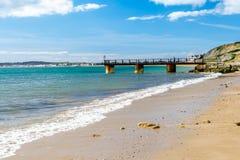 Bowleaze小海湾多西特英国 库存照片